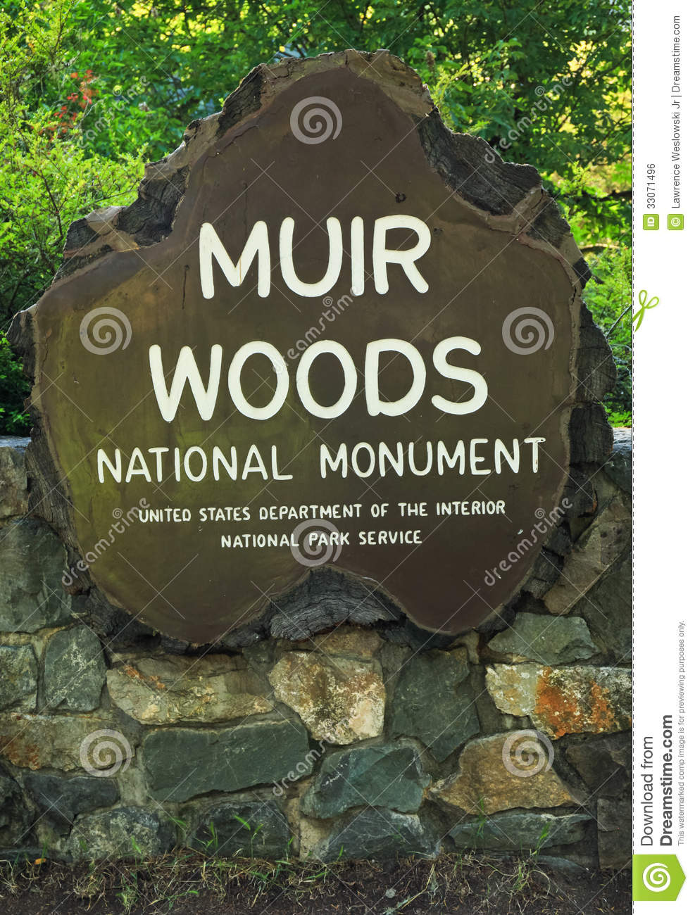 Muir Woods National Monument Sign Editorial Photo.