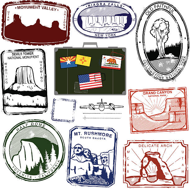 Devils Tower National Monument Clip Art, Vector Images.