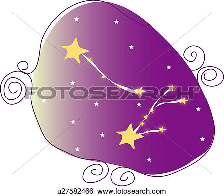 Clip Art of star, star sign, natural phenomenon, astrology.
