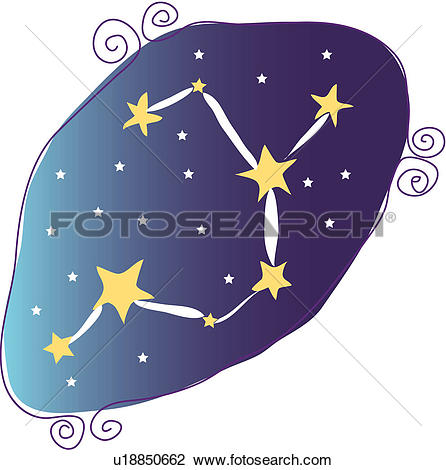 Clipart of star, star sign, natural phenomenon, astrology.