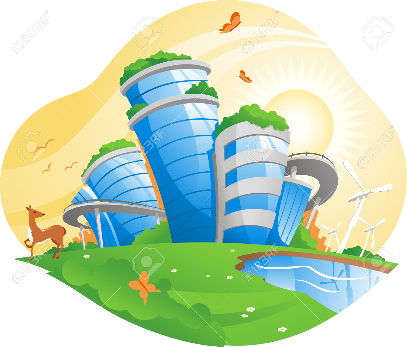 Ecological City, Working For The Environment, Antipollution.