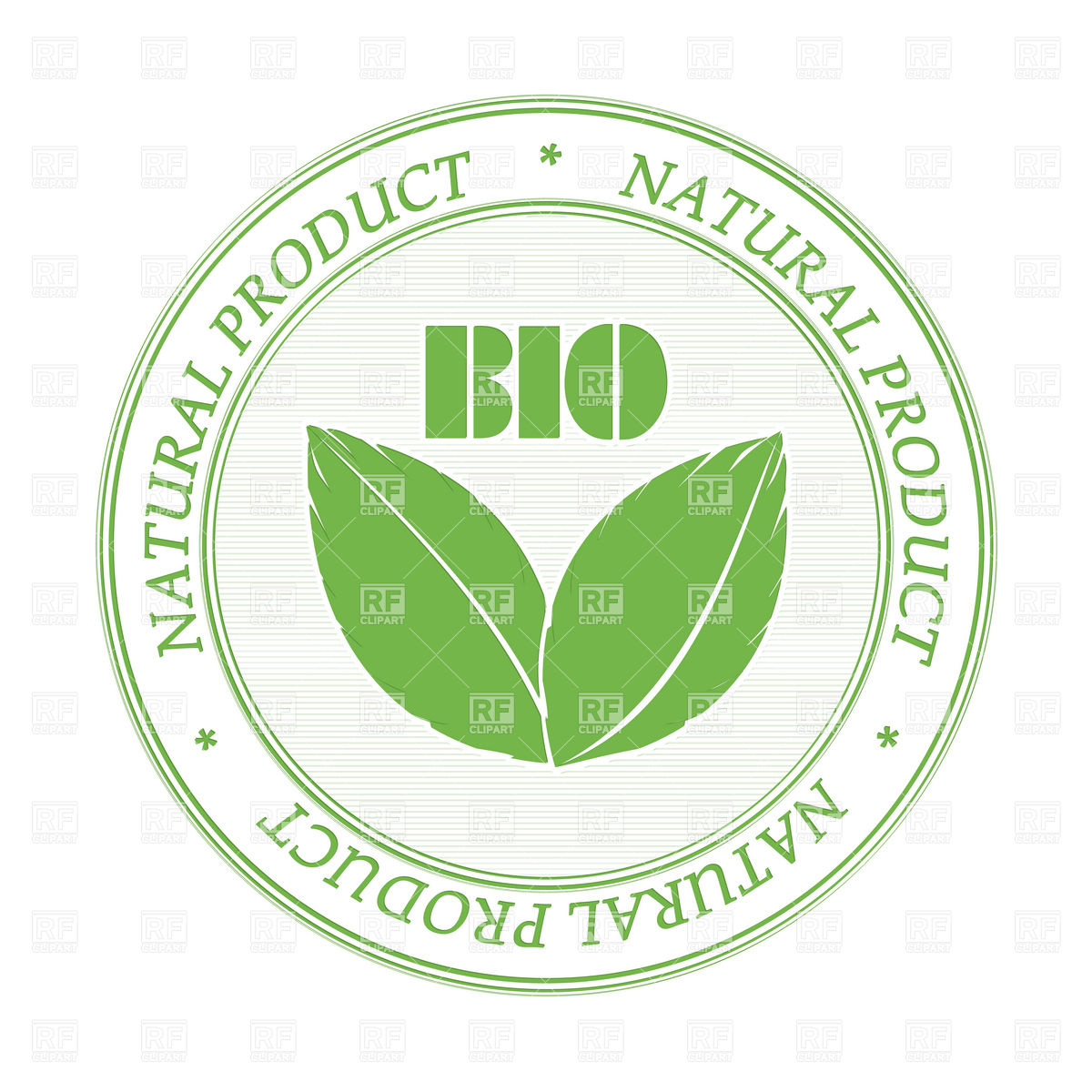 Rubber stamp promoting bio and natural products Vector Image #6311.