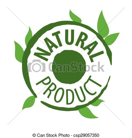 Clipart Vector of vector logo printing for natural products.