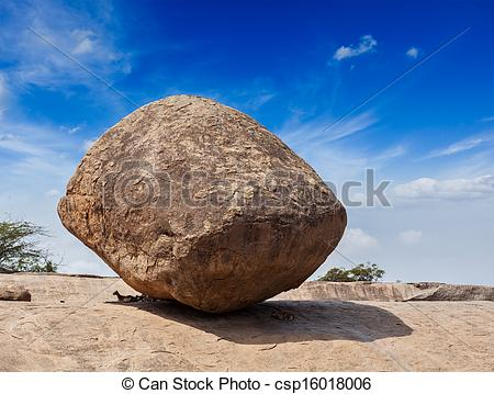 Stock Photography of Krishna's butterball.