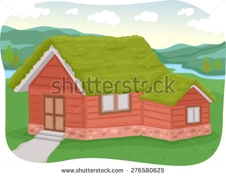 Sod Roof Stock Vectors & Vector Clip Art.