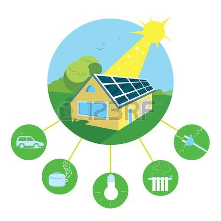 Solar Panels Roof Stock Vector Illustration And Royalty Free Solar.