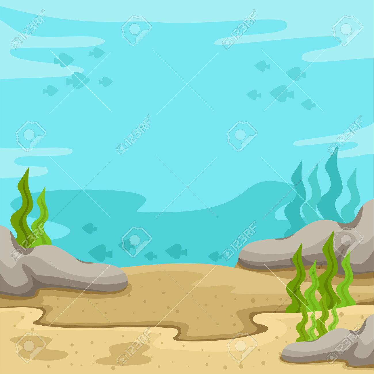 Underwater Background Sea Clipart.