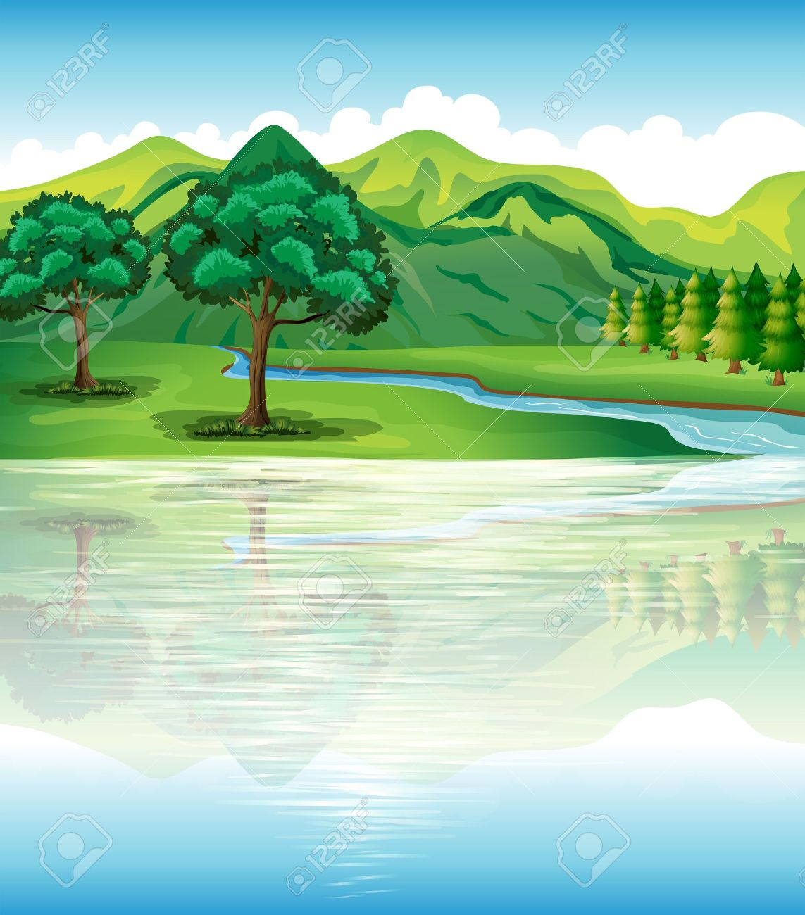 Land and water clipart.