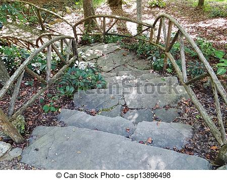 Stock Photographs of curved stone steps.