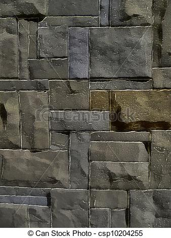 Stock Illustrations of 3D Natural Stone Wall Background.