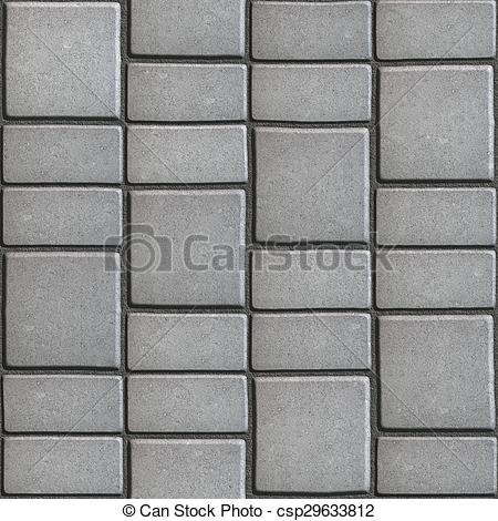 Clipart of Gray Paving Slabs that Mimic Natural Stone. Seamless.