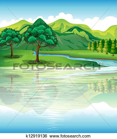 Clip Art of Our natural land and water resources k12919136.