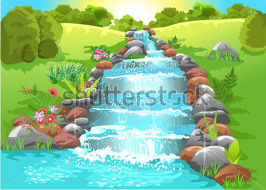Spring water clipart.