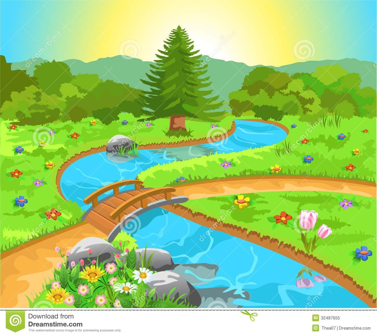 Natural Spring Water Clip Art.