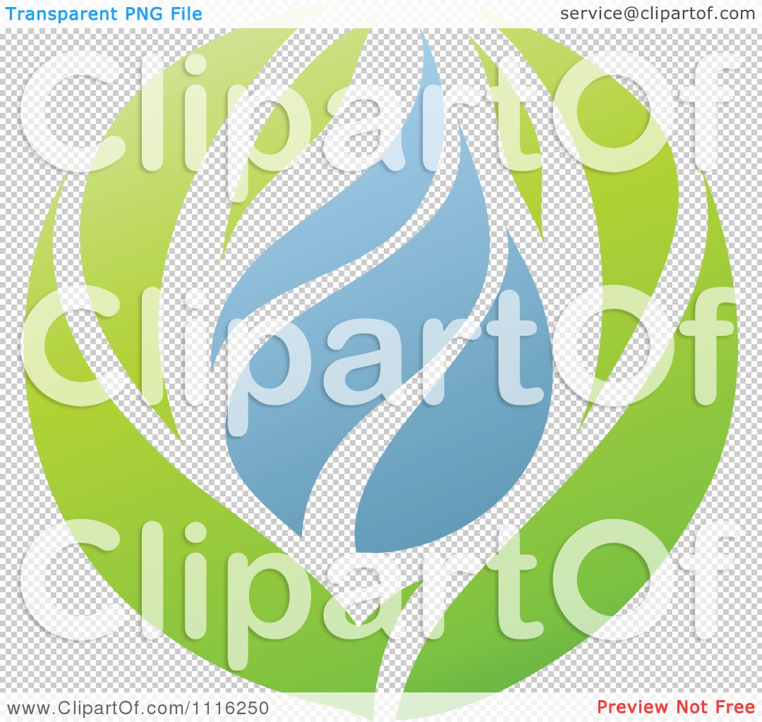 Clipart Green And Blue Natural Organic Leaves And Water Drop.