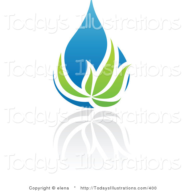 Natural water green clipart #9