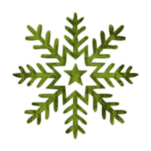 green snowflake clipart #10