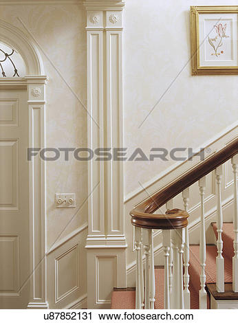 Stock Photography of stairs: detail of classical staircase.