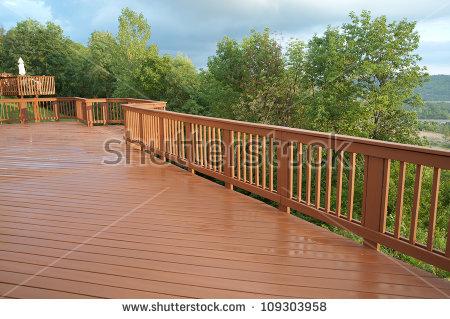 Wood Railing Stock Images, Royalty.
