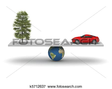 Stock Illustration of Balance of Nature and Technology k5712637.