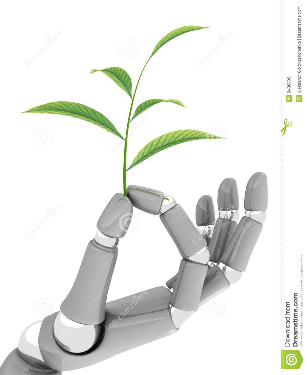 Technology Save Nature Stock Photos.