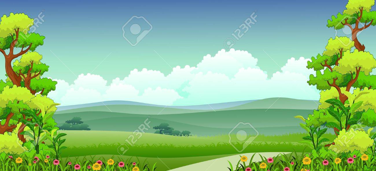 illustration of beauty nature background.