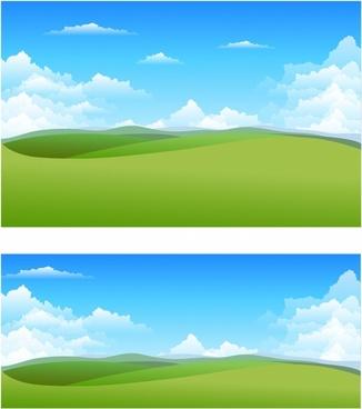 Natural landscape background clipart free vector download.