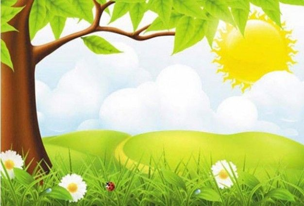 Green country nature scene background.
