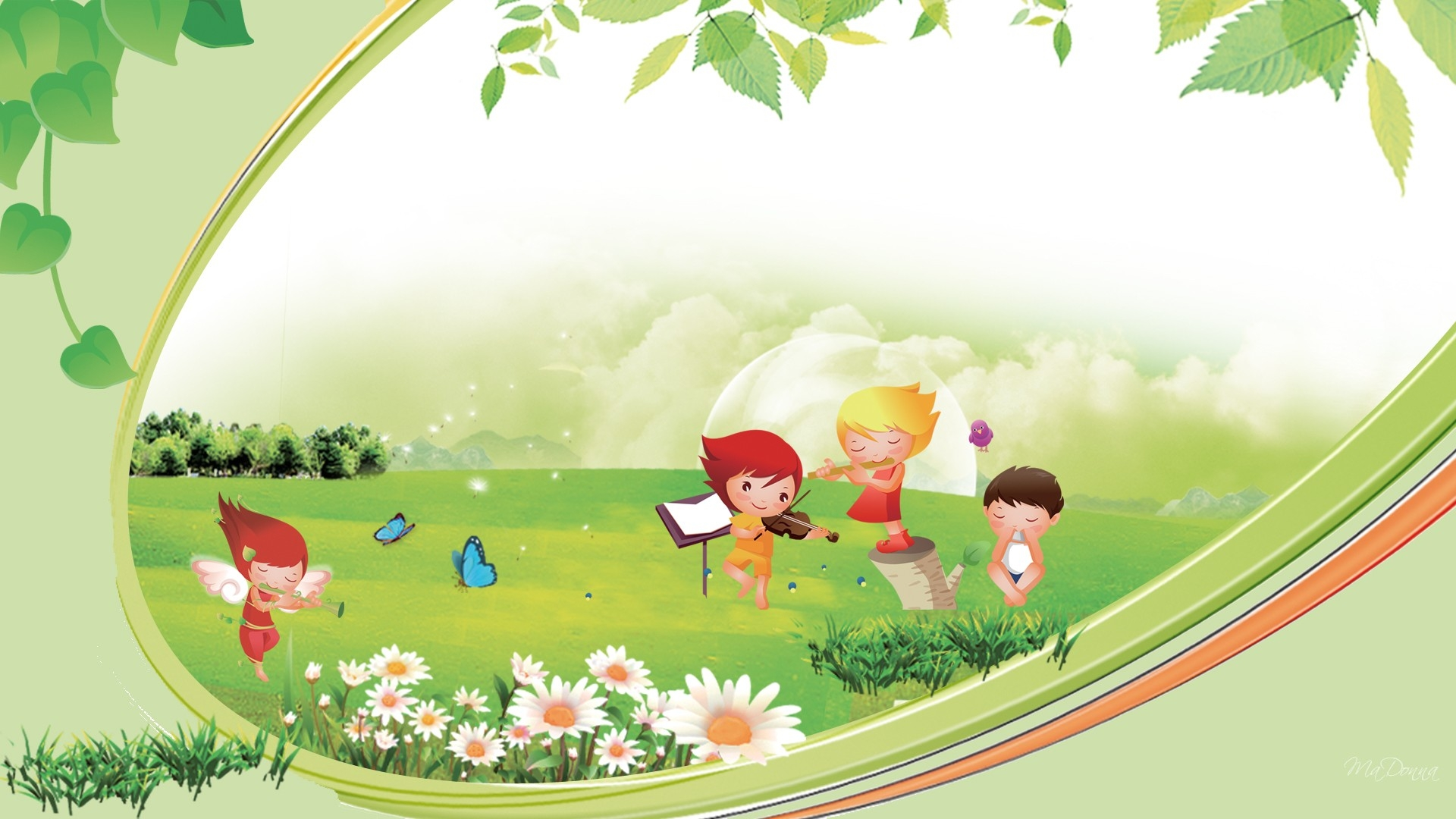Nature Background For Kids Clipart.