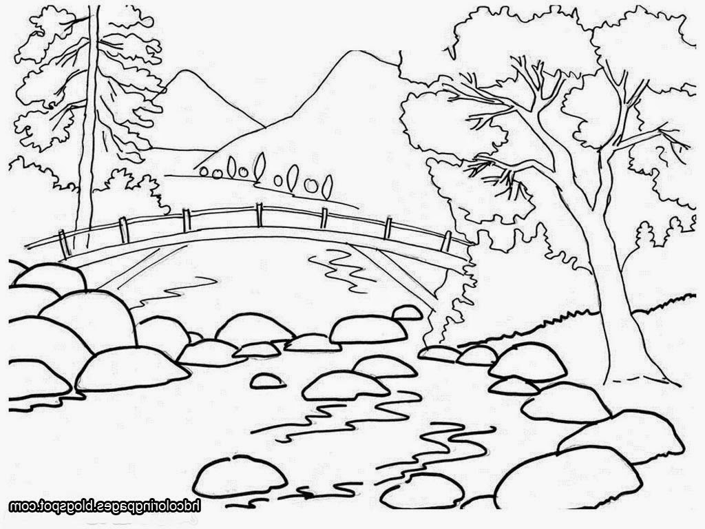 Natural Scenery Drawing For Kids Natural Scene Drawing.