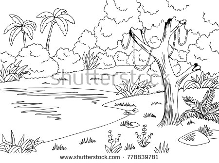 Natural scenery clipart black and white 4 » Clipart Portal.