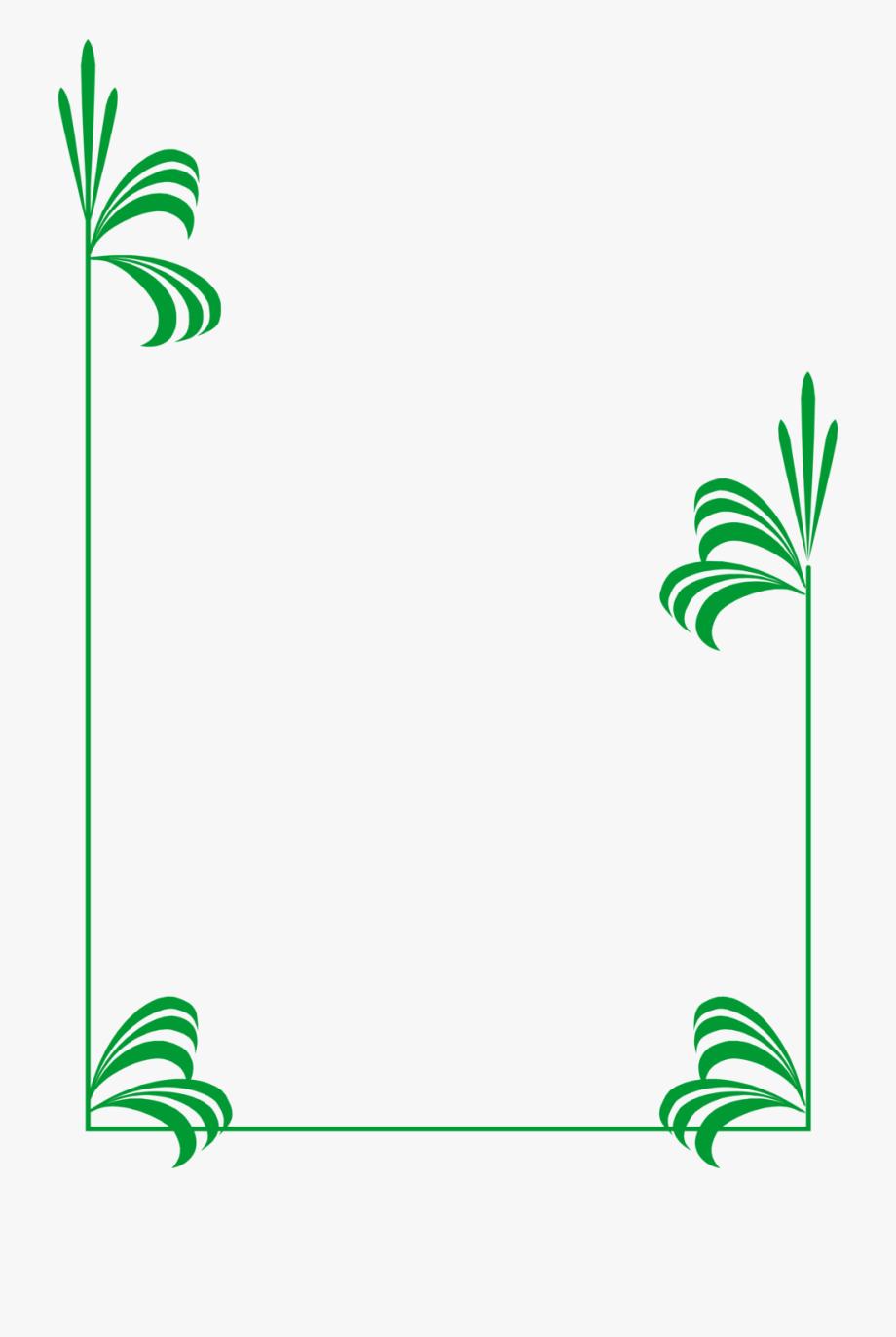 Bamboo Clipart Nature Border Design.
