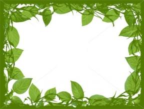 Nature Border Design Clipart.