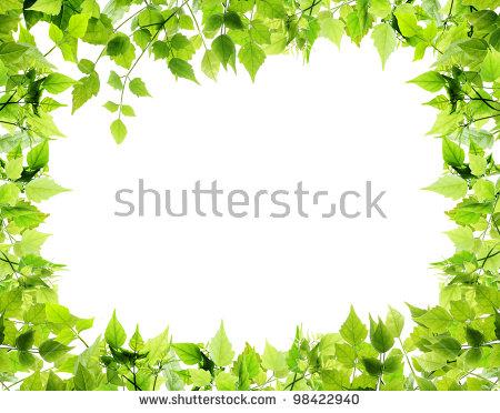 Leaf Border Stock Images, Royalty.
