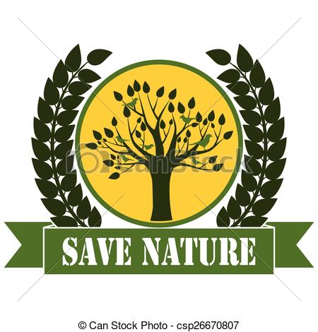 Vector Clipart of Save Nature.