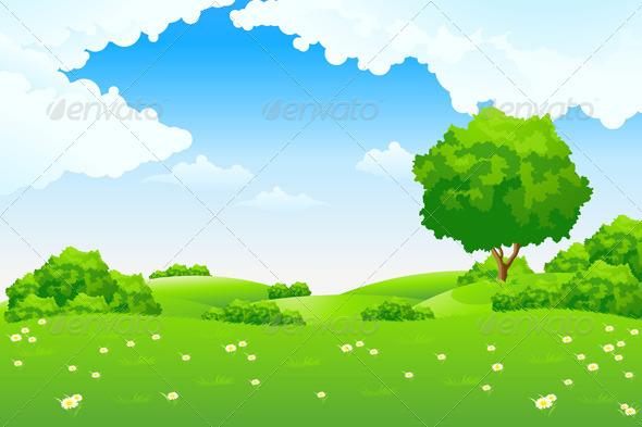 Green Landscape Landscapes Nature #gXJhqE.