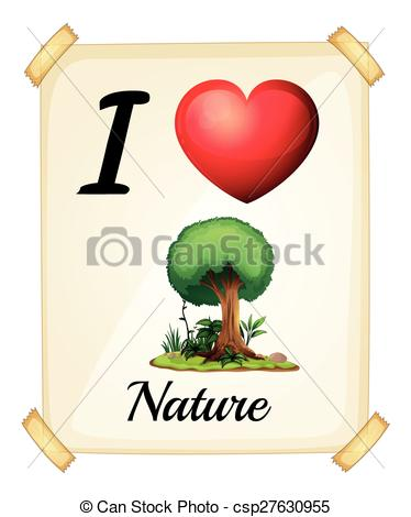 Clip Art Vector of love nature.