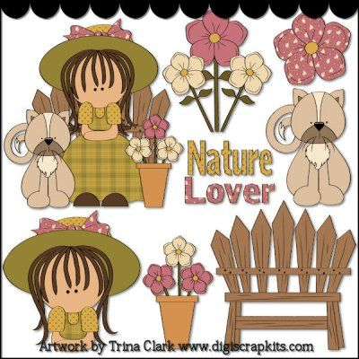 Nature Lover 1 Clip Art.