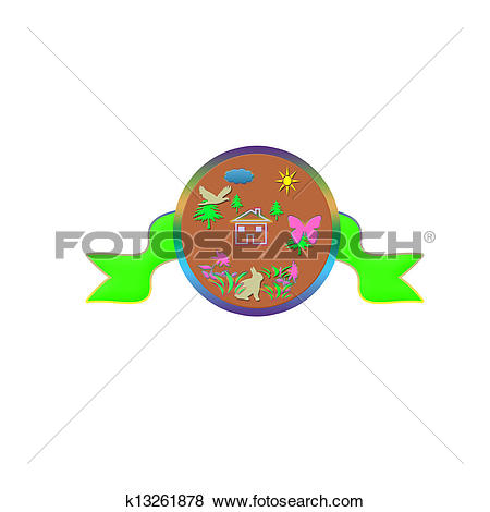 Stock Illustration of banner nature lover k13261878.