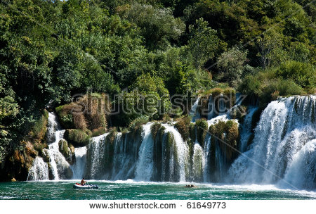 Waterfalls National Park Krka Croatia Stock Photo 61649779.