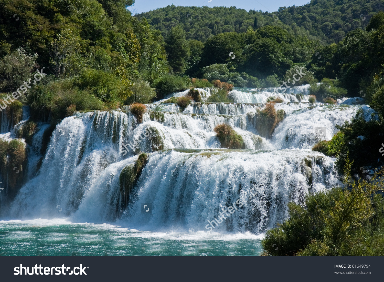 Waterfalls National Park Krka Croatia Stock Photo 61649794.