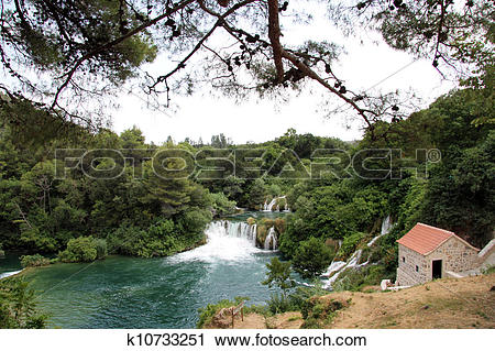 Stock Photography of National park KRKA k10733251.