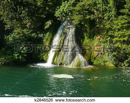 Stock Images of Waterfalls in Krka National Park k2846526.