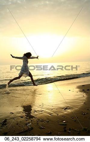 Stock Photo of beach, kaftan, nature, outside, sea, season.