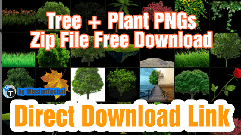 Part9] HD Tree PNG Zip File For Photoshop and PicsArt.