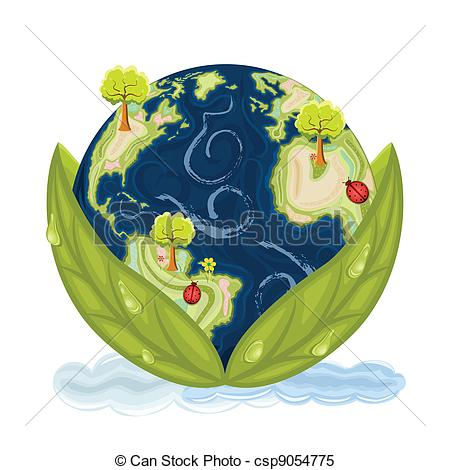 Clipart Vector of Green Earth.