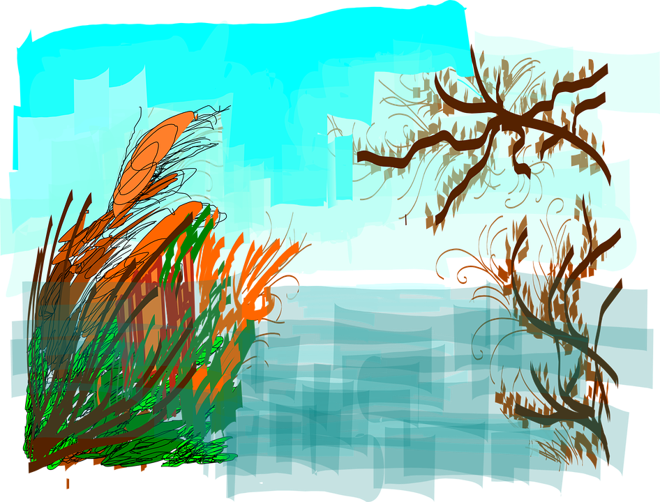 Free vector graphic: River, Reed, Bank, Waterside.