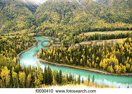 Stock Photography of China, Xinjiang, Altay Massif, nature reserve.