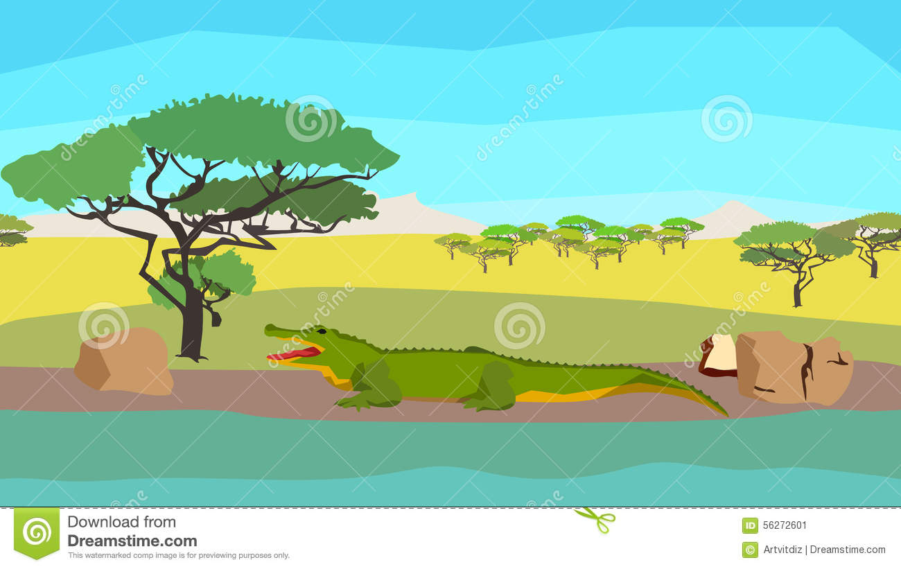 River Clip Art Crocodile.
