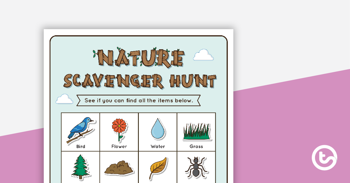 Nature Scavenger Hunt Grid Teaching Resource.
